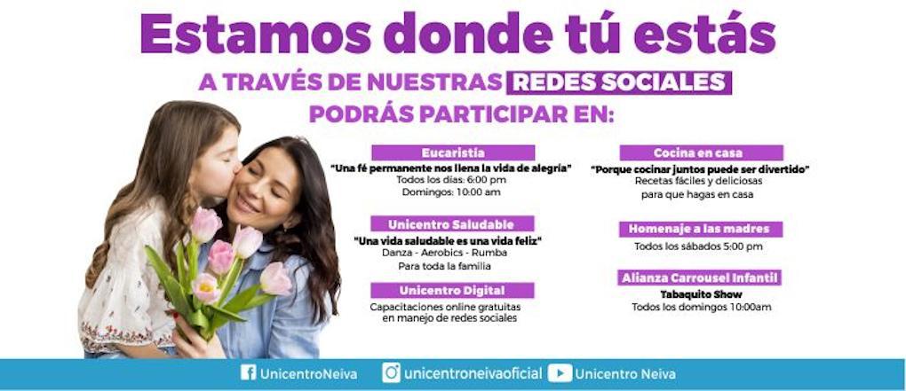 Actividades mes de mayo | Unicentro Neiva
